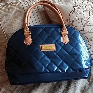 COPY - Joy & Main blue patent quilted purse